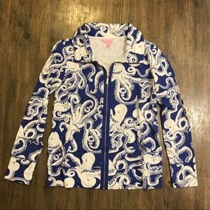 NWT Lilly Pulitzer Leona Zip Up in Bubbly